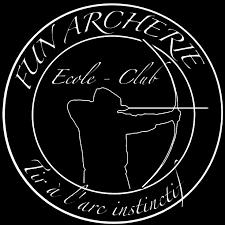 Logo Fun Archerie blanc sur fond noir